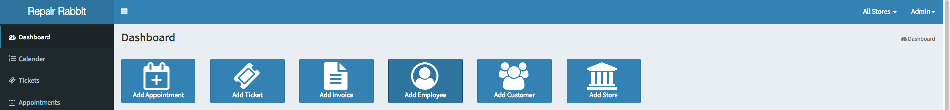 Add appointments tickets invoice employee customer store easily